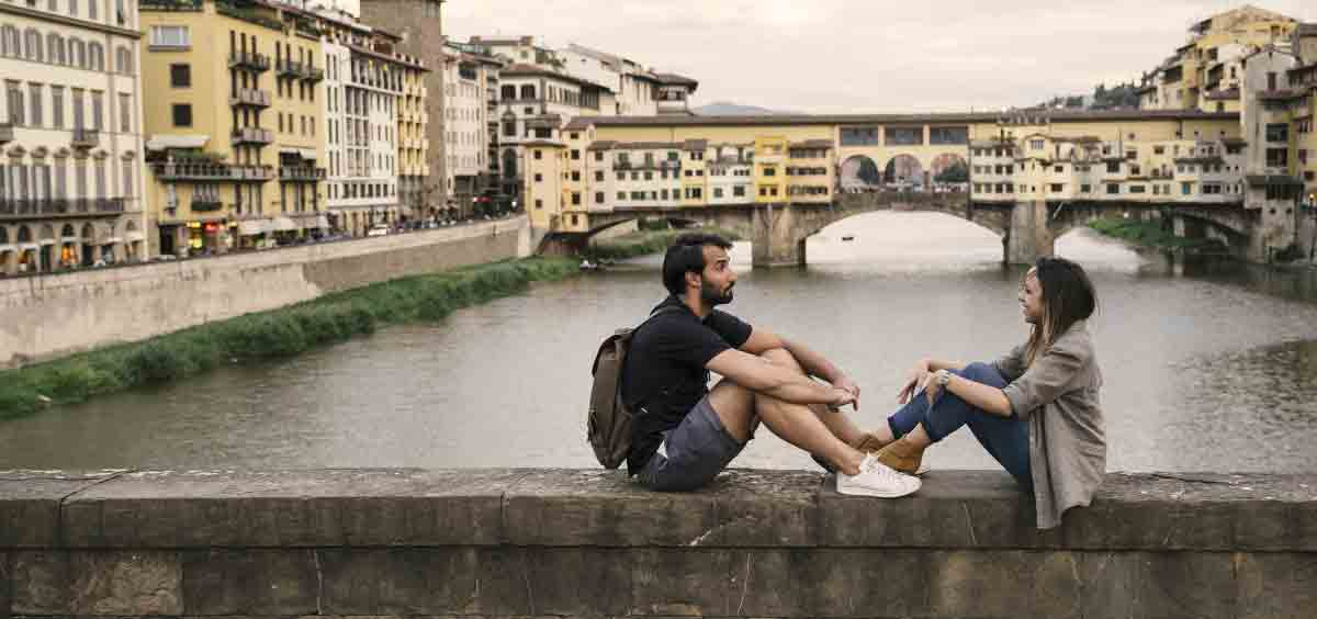 love in Florence in Italy